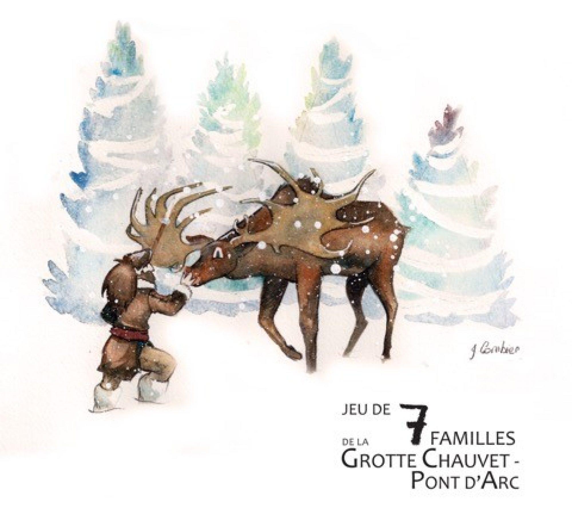 Jeu de 7 familles de la Grotte Chauvet Pont d'Arc